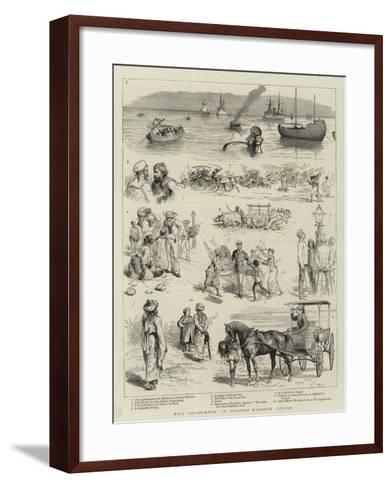 H M S Agamemnon in Colombo Harbour, Ceylon--Framed Art Print