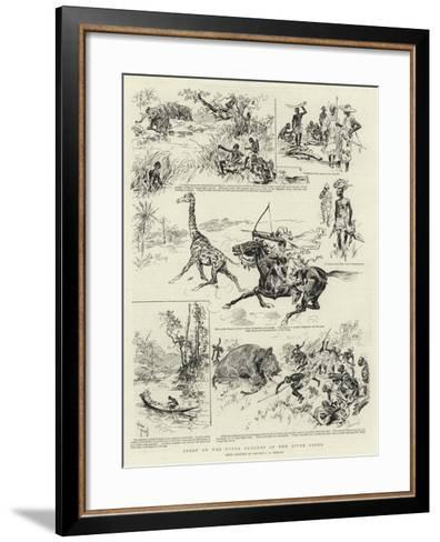 Sport on the Upper Reaches of the River Niger--Framed Art Print