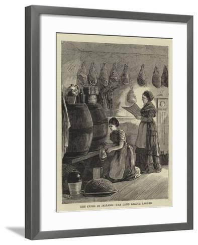 The Crisis in Ireland, the Land League Larder--Framed Art Print
