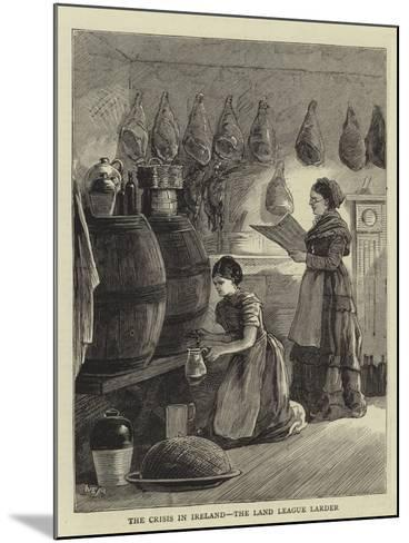 The Crisis in Ireland, the Land League Larder--Mounted Giclee Print