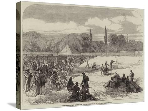 Pigeon-Shooting Match of the Hurlingham Club--Stretched Canvas Print