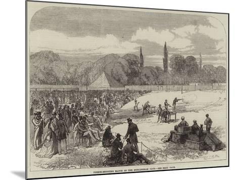 Pigeon-Shooting Match of the Hurlingham Club--Mounted Giclee Print
