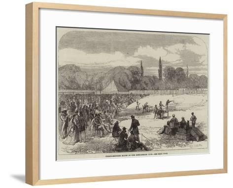Pigeon-Shooting Match of the Hurlingham Club--Framed Art Print
