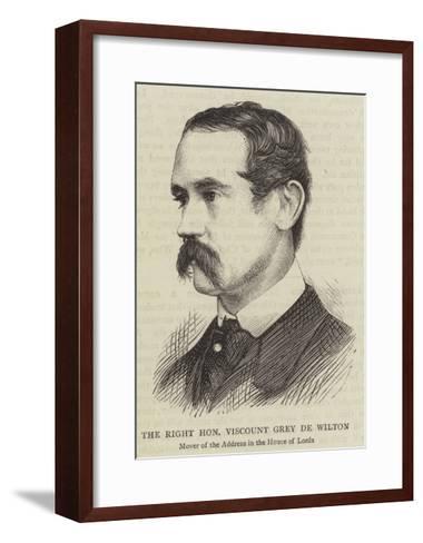 The Right Honourable Viscount Grey De Wilton--Framed Art Print