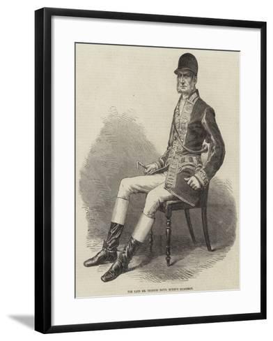 The Late Mr Charles Davis, Queen's Huntsman--Framed Art Print