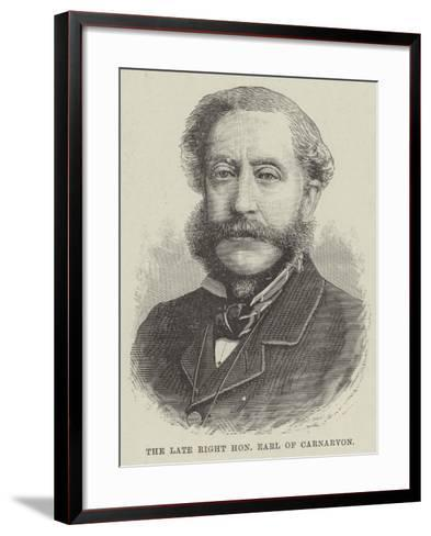 The Late Right Honourable Earl of Carnarvon--Framed Art Print