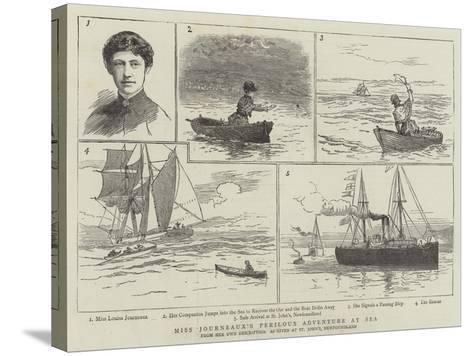 Miss Journeaux's Perilous Adventure at Sea--Stretched Canvas Print
