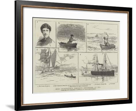 Miss Journeaux's Perilous Adventure at Sea--Framed Art Print