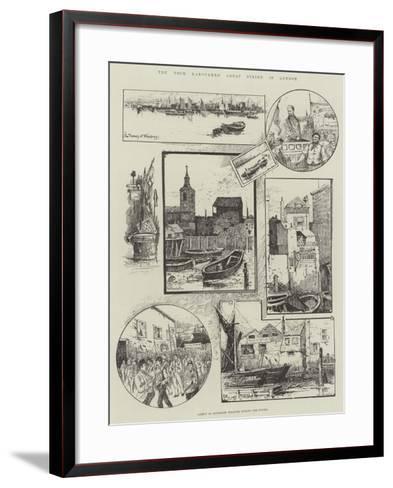 The Dock Labourers' Great Strike in London--Framed Art Print