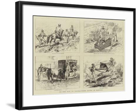 On the Way to Natal, Three Hours in Madeira--Framed Art Print