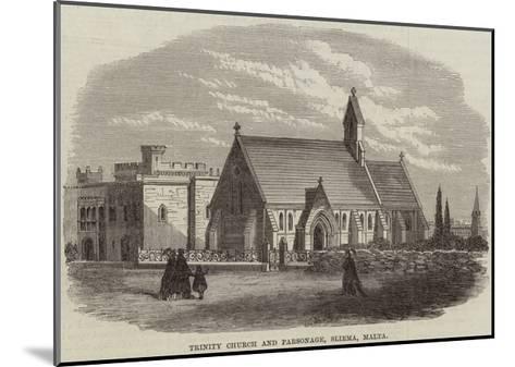 Trinity Church and Parsonage, Sliema, Malta--Mounted Giclee Print