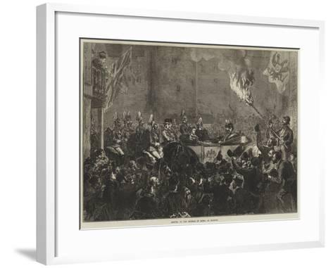 Arrival of the Emperor of Russia at Windsor--Framed Art Print