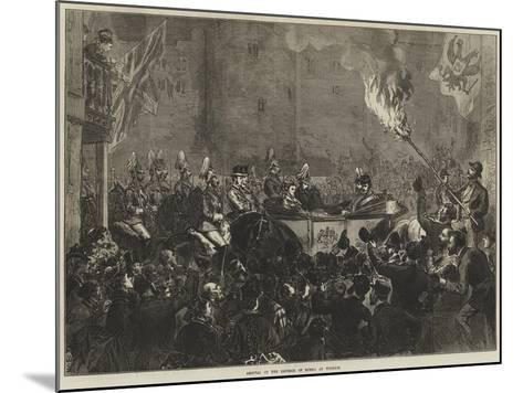 Arrival of the Emperor of Russia at Windsor--Mounted Giclee Print