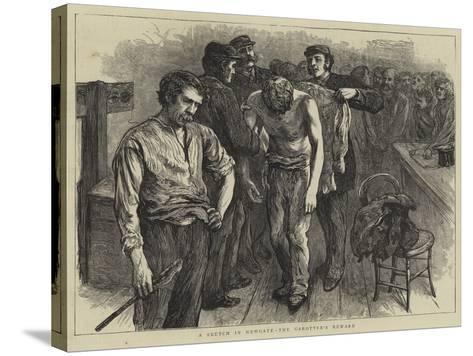 A Sketch in Newgate, the Garotter's Reward--Stretched Canvas Print