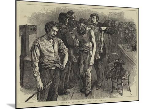 A Sketch in Newgate, the Garotter's Reward--Mounted Giclee Print