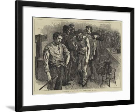 A Sketch in Newgate, the Garotter's Reward--Framed Art Print