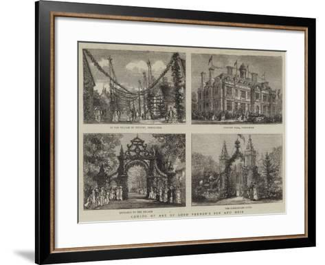 Coming of Age of Lord Vernon's Son and Heir--Framed Art Print
