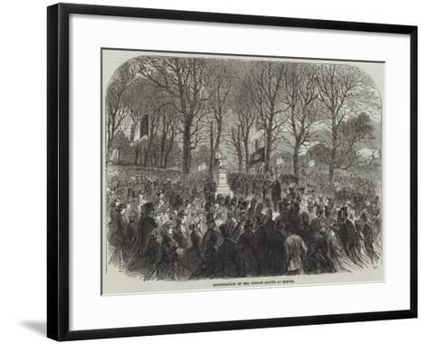 Inauguration of the Dinham Statue at Exeter--Framed Art Print