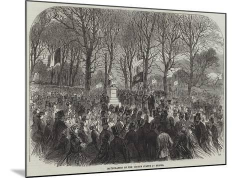 Inauguration of the Dinham Statue at Exeter--Mounted Giclee Print