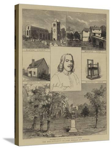 The New Monument to John Bunyan at Bedford--Stretched Canvas Print