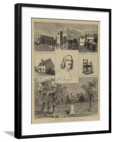 The New Monument to John Bunyan at Bedford--Framed Art Print
