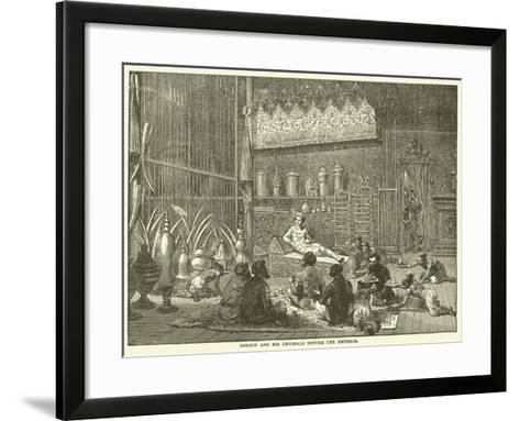 Gordon and His Generals before the Emperor--Framed Art Print