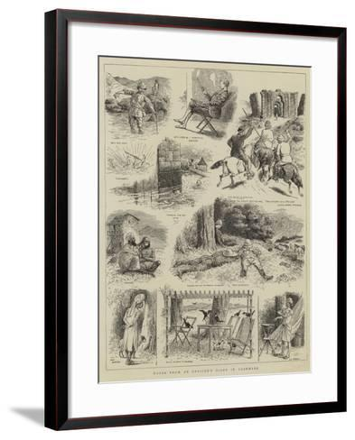 Notes from an Officer's Diary in Cashmere--Framed Art Print