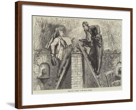 Scene from Nemesis, at the Strand Theatre--Framed Art Print