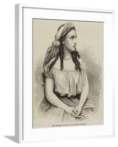 Miss Bateman as Leah, at the Adelphi Theatre--Framed Art Print