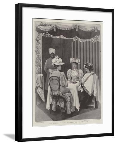 The Queen at Home, Breakfast in the Open Air--Framed Art Print