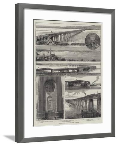 Completion of the New Tay Bridge at Dundee--Framed Art Print