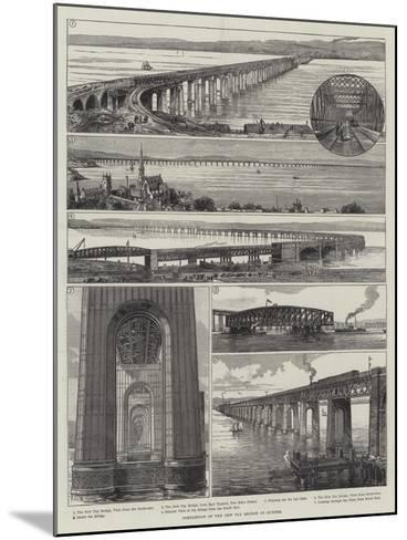 Completion of the New Tay Bridge at Dundee--Mounted Giclee Print