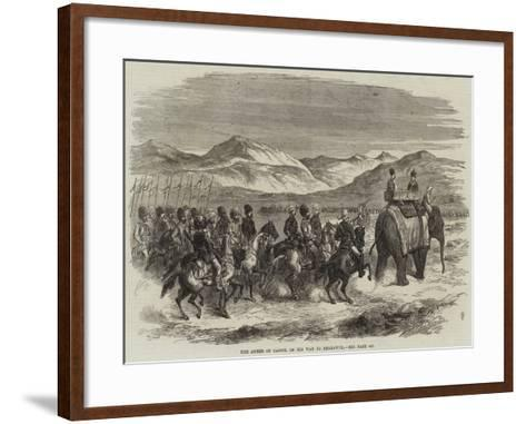 The Ameer of Cabool on His Way to Peshawur--Framed Art Print