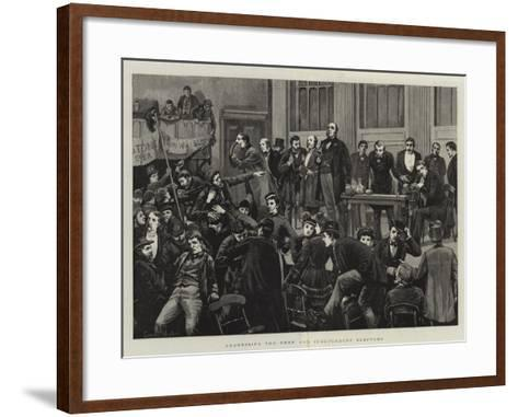 Addressing the Free and Independent Electors--Framed Art Print