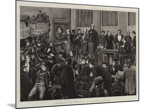 Addressing the Free and Independent Electors--Mounted Giclee Print