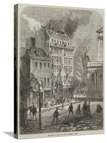 Explosion in the Place De La Sorbonne, Paris--Stretched Canvas Print