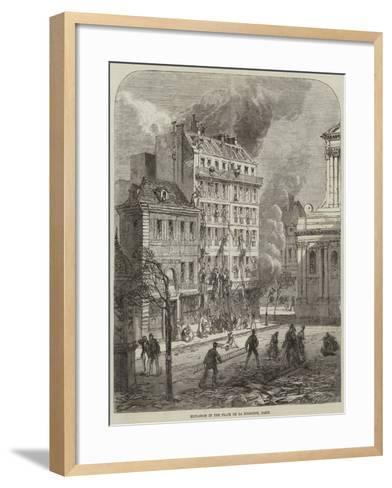 Explosion in the Place De La Sorbonne, Paris--Framed Art Print