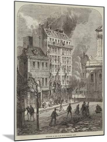 Explosion in the Place De La Sorbonne, Paris--Mounted Giclee Print
