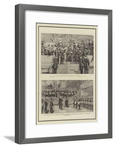 Hrh the Late Duke of Clarence and Avondale--Framed Art Print
