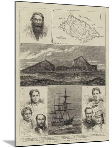 A Visit to the Pitcairn Islanders by HMS Opal--Mounted Giclee Print
