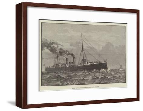HMS Latona, Protected Cruiser, Built of Steel--Framed Art Print