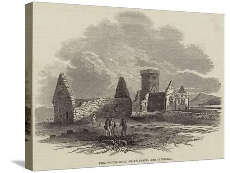 Iona, Ruins of St Oran's Chapel and Cathedral--Stretched Canvas Print