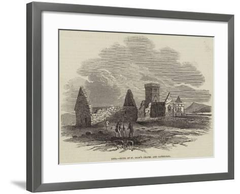 Iona, Ruins of St Oran's Chapel and Cathedral--Framed Art Print