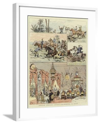 English Officers Abroad, Fox-Hunting in Egypt--Framed Art Print