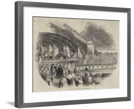 The Lord Mayor Embarking at Southwark Bridge--Framed Art Print
