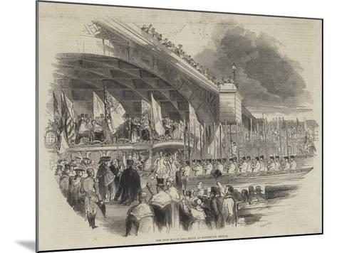 The Lord Mayor Embarking at Southwark Bridge--Mounted Giclee Print