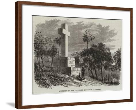 Monument to the Late Lord Brougham at Cannes--Framed Art Print