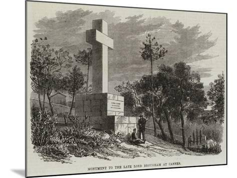 Monument to the Late Lord Brougham at Cannes--Mounted Giclee Print