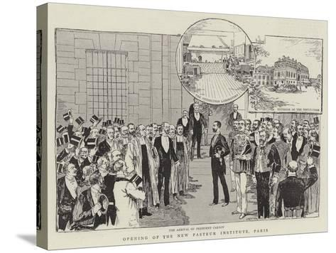 Opening of the New Pasteur Institute, Paris--Stretched Canvas Print
