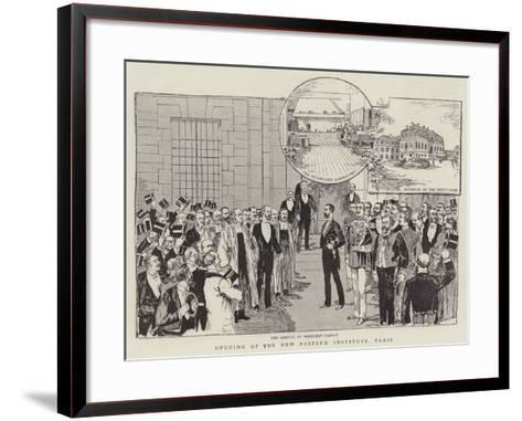 Opening of the New Pasteur Institute, Paris--Framed Art Print